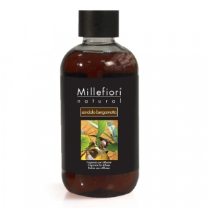 Millefiori Milano Geurstokjes navulling Sandalo Bergamoto 250ml