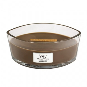 WoodWick Geurkaars Amber & Incense HearthWick Ellipse