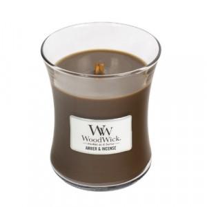 WoodWick Geurkaars Amber & Incense Medium