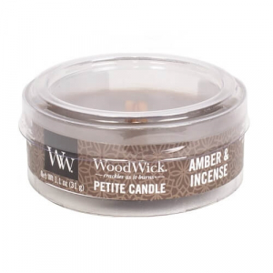 WoodWick Geurkaars Amber & Incense Petite