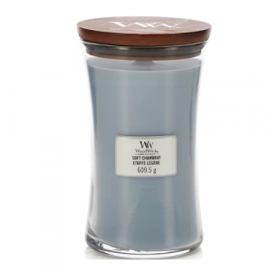 WoodWick Geurkaars Soft Chambray Large