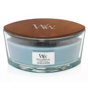 WoodWick Geurkaars Sea Salt & Cotton HearthWick Ellipse