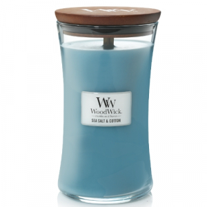 WoodWick Geurkaars Sea Salt & Cotton Large