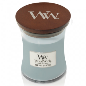 WoodWick Geurkaars Sea Salt & Cotton Medium