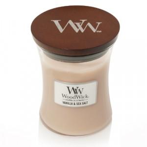 WoodWick Geurkaars Vanilla & Sea Salt Medium