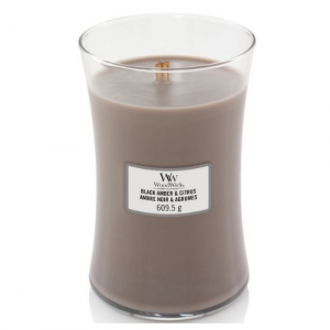 WoodWick Geurkaars Black Amber & Citrus Large