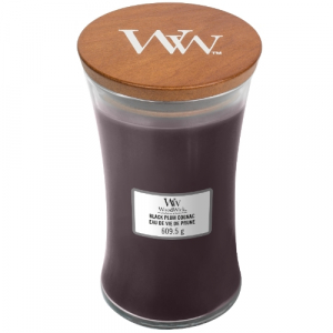 WoodWick Geurkaars Black Plum Cognac Large