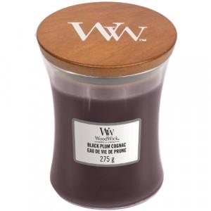 WoodWick Geurkaars Black Plum Cognac Medium