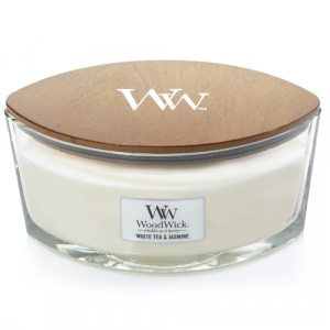 WoodWick Geurkaars White Tea & Jasmine HearthWick Ellipse