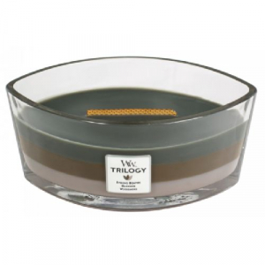 WoodWick Trilogy Cozy Cabin HearthWick Ellipse