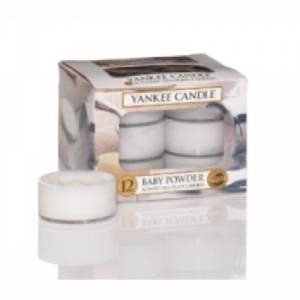 Yankee Candle Baby Powder Tea Lights 12 St