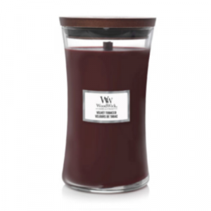 WoodWick Geurkaars Velvet Tobacco Large