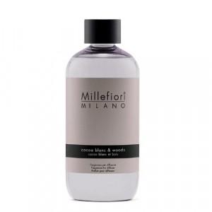 Millefiori Milano Geurstokjes navulling Cocoa Blanc & Woods